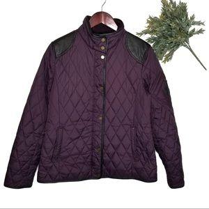 Lauren Ralph Lauren Quilted Plum Purple Jacket